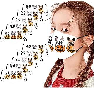 maschera in tessuto lavabile TOPEREUR con stampa 3D in cotone per esterni protezione per la bocca bandana Set di 3 paradenti multifunzione foulard per uomo e donna