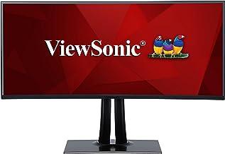 ViewSonic VP3881 38 Inch WQHD+ UltraWide Curved Monitor USB Type C 100% sRGB Rec709 HDR10 14-bit 3D LUT Color Calibration ...