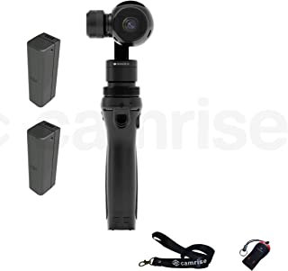 DJI Osmo, Fully Stabilized 4k, 12mp Camera with Camrise Starter Plus Bundle: 2 Extra Batteries, Lanyard and USB Reader