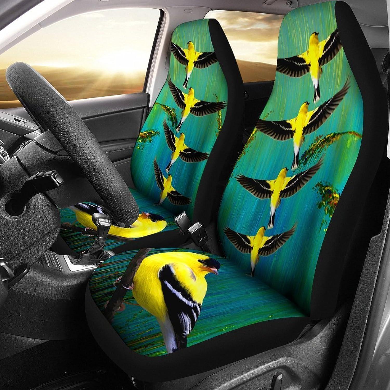 Deruj American goldfinch Bird Print Car Seat Covers