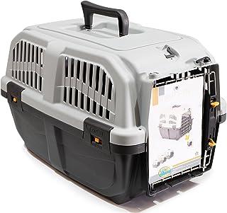 BPS (R) Transportín plástico para perros y gatos Mascota Caja de Transporte IATA 3 Tamaños para Elegir Color Gris/ Gris Oscuro 48* 31,5* 31cm Tamaño S BPS-4140