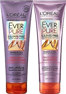 L'Oreal Paris EverPure Frizz-defy Bundle: Shampoo & Conditioner, 8.5 OunceEach