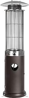 Golden Flame Resort Model 40,000 BTU Round Glass-Tube Flame Patio Heater in Matte Mocha Finish