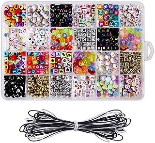 Deer Platz Brief Perlen, 24 Verschiedene Arten Von Perlen Taschen, Hergestellt Aus Premium Acryl Für Party Geschenk Liebhaber Oder Kinder Armbänder Für DIY Halskette