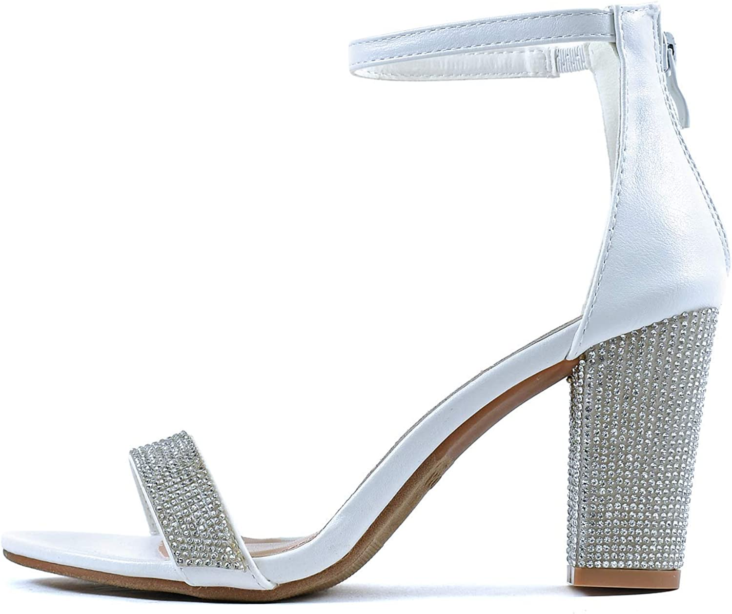 Guilty Heart Womens Ankle Strap Max 73% OFF Max 43% OFF Zipper Heel Block Chunky Closure