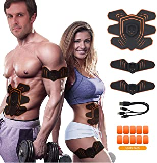 Abs Stimulator Abdominal Trainer Ultimate Abs Stimulator Ab Stimulator Men Women Work Out Ads Power Abs Training Gear Workout Equipment Portable Stimulator Abs Belt""