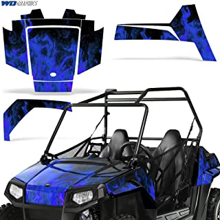 Polaris RZR170 UTV Graphic Kit Decal Sticker SxS Sticker Kids RZR 170 FLAMES BLUE