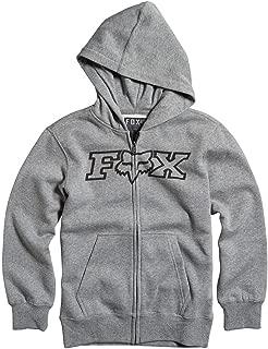 Fox Racing Boys Legacy Fleece Hoody Zip Sweatshirt X-Large Heather Graphite