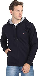 Quco Men's Cotton Fleece Hood Sweat Shirt - (Navy)