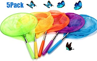 Collapsible Telescopic Catching Insects Bugs Fish Ladybird Nets Outdoor Tools Extendable 34 Inch Transser Telescopic Net 4 Pack Kids Telescopic Butterfly Fishing Nets