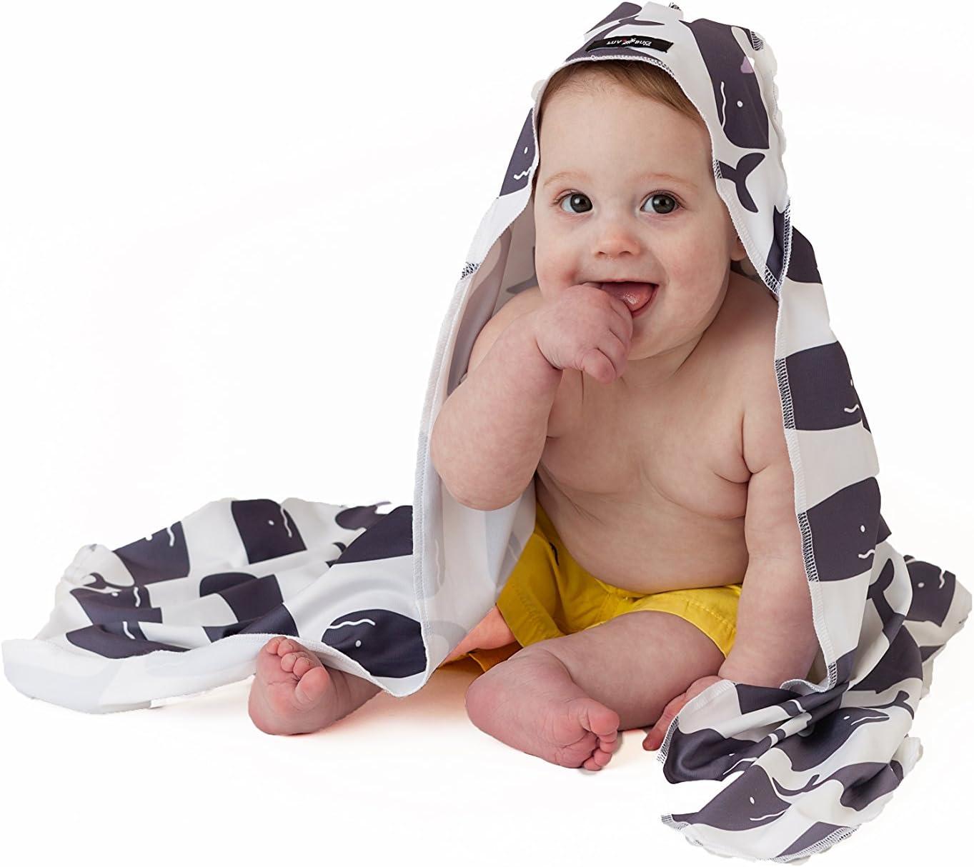 Luv Bug Company UPF 50+ Sunscreen Towel with Hood (Whales)