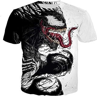 PLstar Cosmos Men's Ahegao Printed T-Shirt 3D Printed Short Sleeve