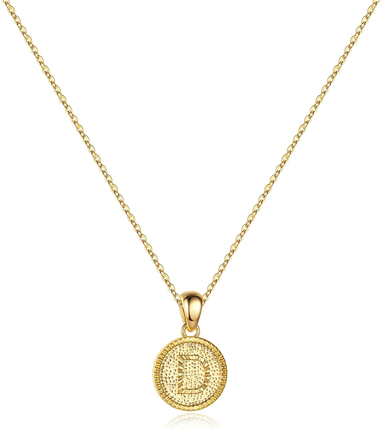 IEFSHINY Heart Popular brand in the world Initial Necklace for Women Dain 14K Gold Filled - safety
