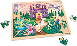 Melissa & Doug Fairy Fantasy Wooden Jigsaw Puzzle With Storage Tray (48 pcs, Great Gift for Girls and Boys - Best for 4, 5 and 6 Year Olds)