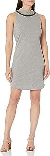 فستان برقبة وهمية بدون أكمام للنساء مزين بالخرز يدويًا من Three Dots
