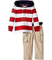 Rugby Hoodie & Belted Pants Set (Infant)
