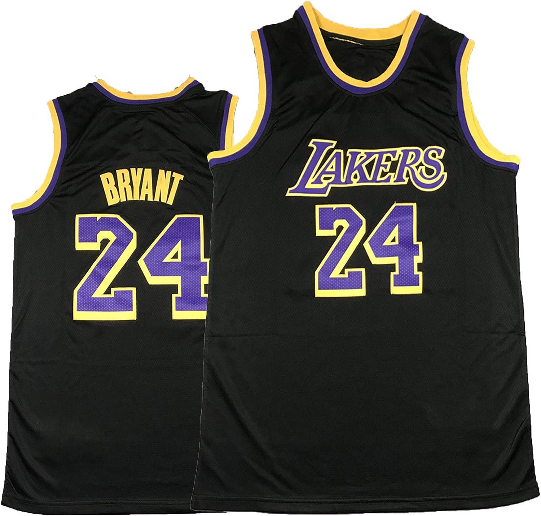 taglia S nuova stagione Laker # 24 Black Mamba Jersey Black Bonus Edition unisex comoda da basket PQMW Kobe 2021 Maglia da basket in jersey 55-65 kg