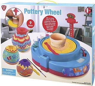 Playgo Pottery Wheel B/O, Multi-Colour, 8519, 9 Pcs
