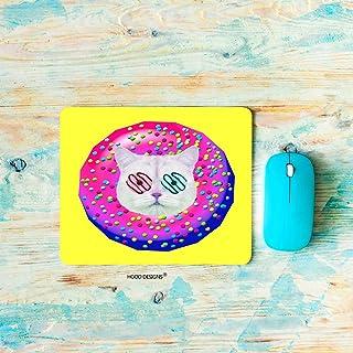 HGOD Designs لوحة ماوس ألعاب القطط، لعبة مضحكة سريعة الطعام الملونة الكرتون دونات القط تصميم ماوس الفأر المستطيل عدم الانز...