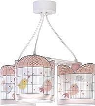 Dalber Kinderlamp 3 lampen Little Birds roze vogels 60W