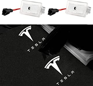 Carwiner Puddle Lights for Tesla Model 3/Y/S/X Ultra-Bright Easy-Plug Replacement LED Accessories 2 Pack