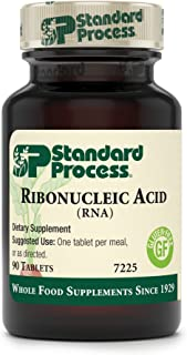 Standard Process - Ribonucleic Acid (RNA) - Supports Healthy Cellular Growth and Function, Protein Synthesis, 15 mg Calcium, Gluten Free and Vegetarian - 90 Tablets
