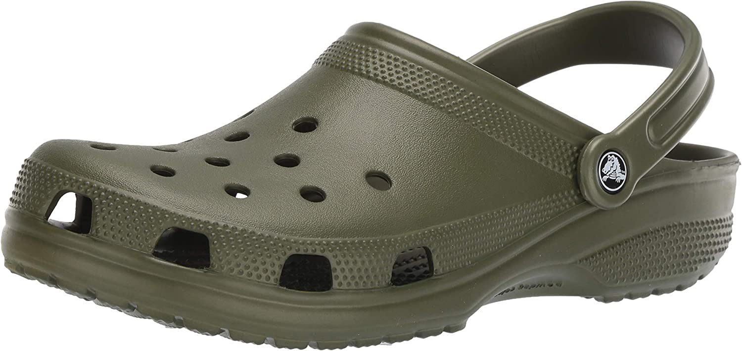 Crocs Classic shoes, Dusty Green, 18 US Women   16 US Men M US