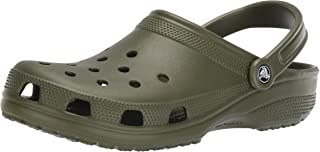 Crocs Classic Clog|Comfortable Slip On Casual Water Shoe, Army Green, 15 M US Women / 13 M US Men