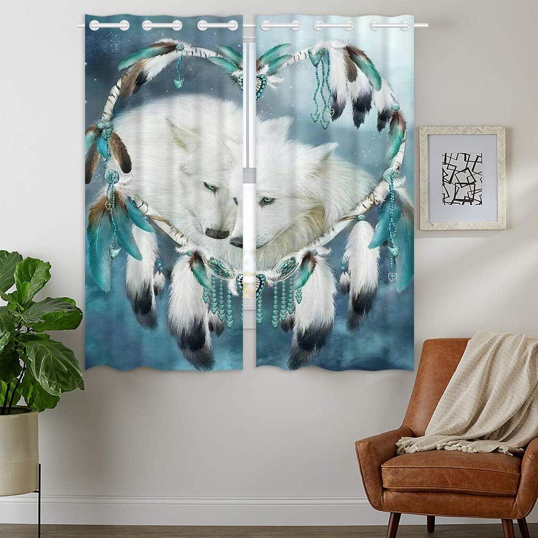 HommomH Regular discount 42 Award-winning store x 63 inch Curtains Bl 2 Top Grommet Darkening Panel