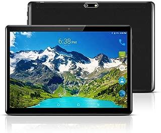 Androidタブレット10インチ、Android 7.0ロック解除タブレットPC、SIMカードスロット、3G電話サポート、Octa Core、2.5GHz、64GB、2MP + 8MPデュアルカメラ、WiFi、Bluetooth、GPS (黑色)