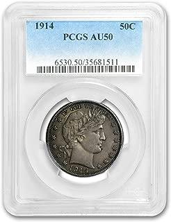 1914 S rber Half Dollar AU-50 PCGS Half Dollar AU-50 PCGS