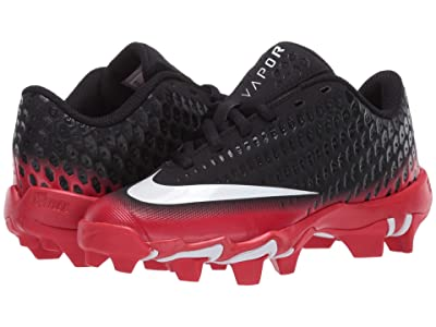 Nike Kids Vapor Ultrafly 2 Keystone Baseball (Little Kid/Big Kid) (Black/White/University Red) Boys Shoes