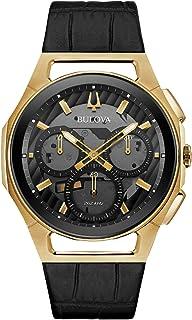Bulova - 97A143 - Reloj cronómetro para Hombre, Correa de Esfera Gris y Negro