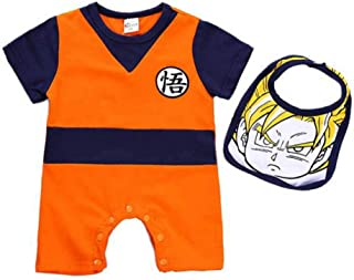 Hannah fit Dragon Ball Z Cosplay Infant and Toddler Bodysuit Footies,Goku Modeling