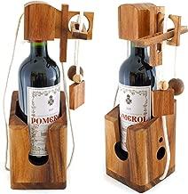 Goods & Gadgets Dont Break The Bottle Flaschen-Tresor Safe Geduldsspiel Puzzle aus Holz