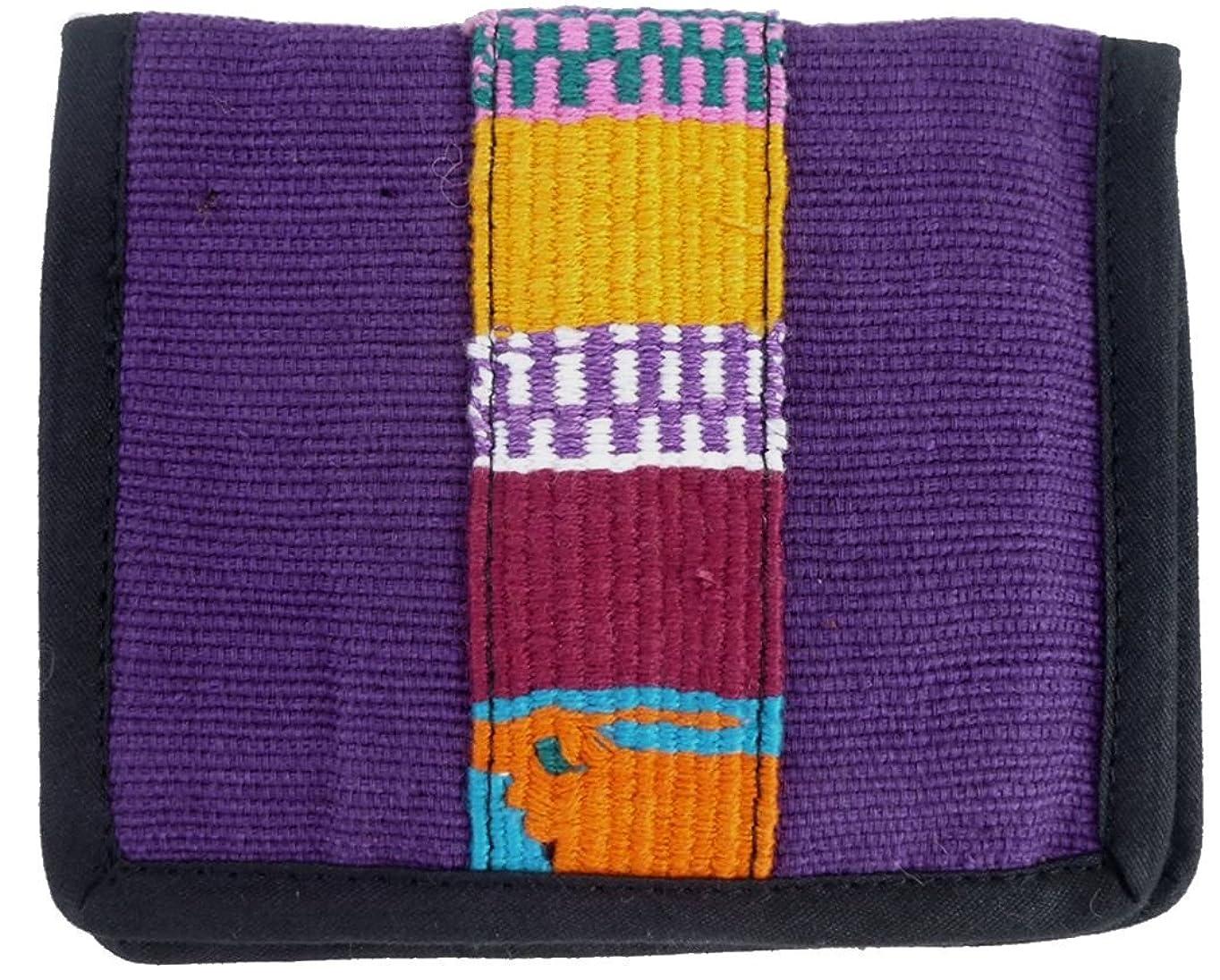 マオリスツール学校グアテマラ 2つ折り財布 民族織物 手織り GU-010-7