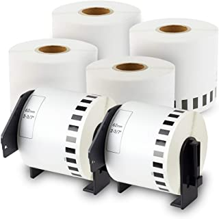 1-1//7 x 50 Label Orison DK-2211 Continuous Length Film White Labels 29mm x 15.2m with Non-refillable Cartridge Compatible with QL-800 QL-700,1 Roll