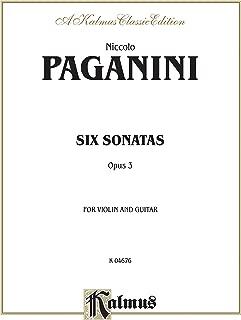 Six Sonatas for Violin and Guitar, Opus 3 (Kalmus Edition)