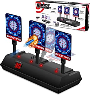 STOTOY Electronic Shooting Target for Nerf Gun, Scoring Auto Reset Target for Boys, Digital Targets with Light Sound Effect, Gifts Toys for 5,6,7,8,9,10+ Years Old Kids-Boys & Girls