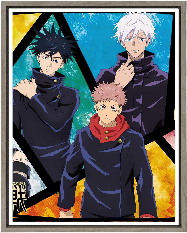 MY Art Jujutsu Kaisen Popular Anime Gojo Yuji Giclee Canvas Artwork Poster,8 x 10 Inches,No Frame