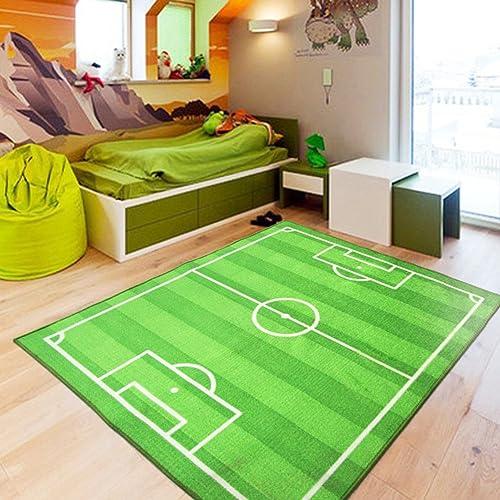 HOMMEMAT Fußball feld baby krabbeln matte,Anti-rutsch dicker teppich Geben sie ihrem kind einen superstar-traum -A 80X120cm(31x47inch)