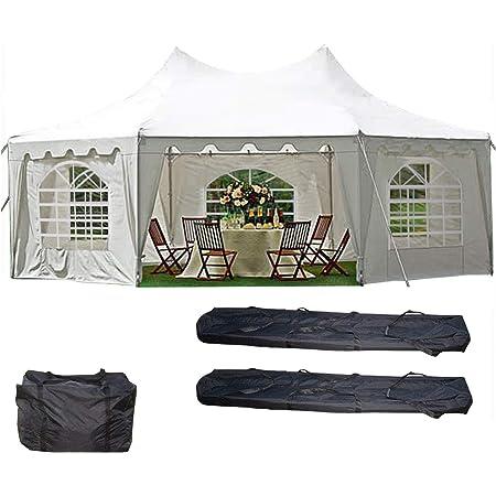 Amazon Com Delta Canopies 29 X21 Decagonal Wedding Party Tent Canopy Gazebo Heavy Duty Water Resistant White Garden Outdoor