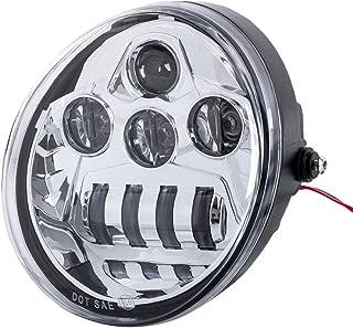 FieryRed Chrome LED Headlight for V-Rod VRSCF VRSC VRSCR 2002-2017, CREE LED High/Low Beam motorcycle Headlight