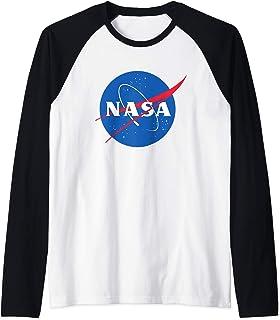 Official NASA Logo Maglia con Maniche Raglan