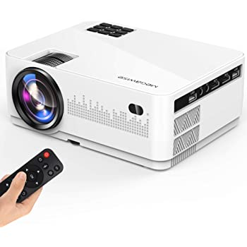 """MEGAWISE Mini Projector, 5000Lux Movie Projector, 1080P and 200"""" Screen Supported L21 Video Projector, with 2xHDMI/2xUSB Ports, Compatible with TV Stick, Video Games, Smart Phone, HDMI,USB,VGA,AUX,AV"""