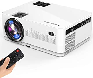 "MEGAWISE Mini Projector, 5000Lux Movie Projector, 1080P and 200"" Screen Supported L21 Video Projector, with 2xHDMI/2xUSB P..."