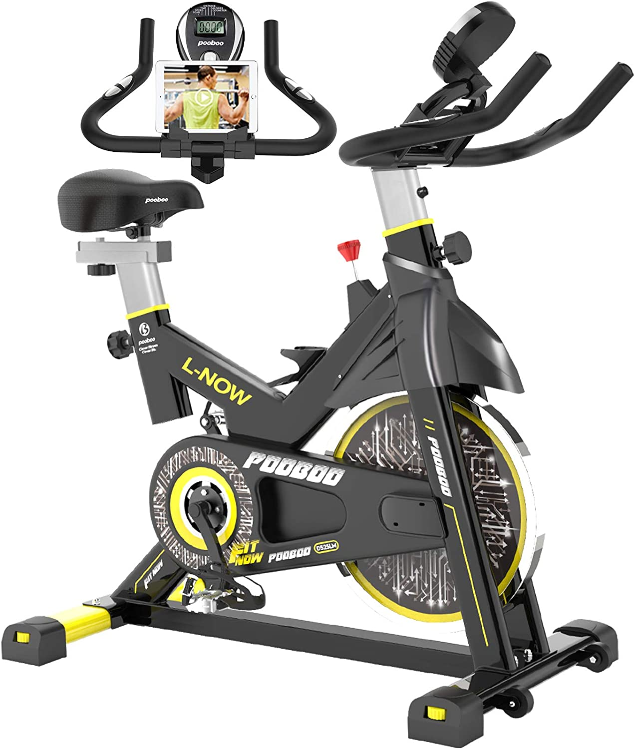 pooboo Indoor Cycling Exercise Bike