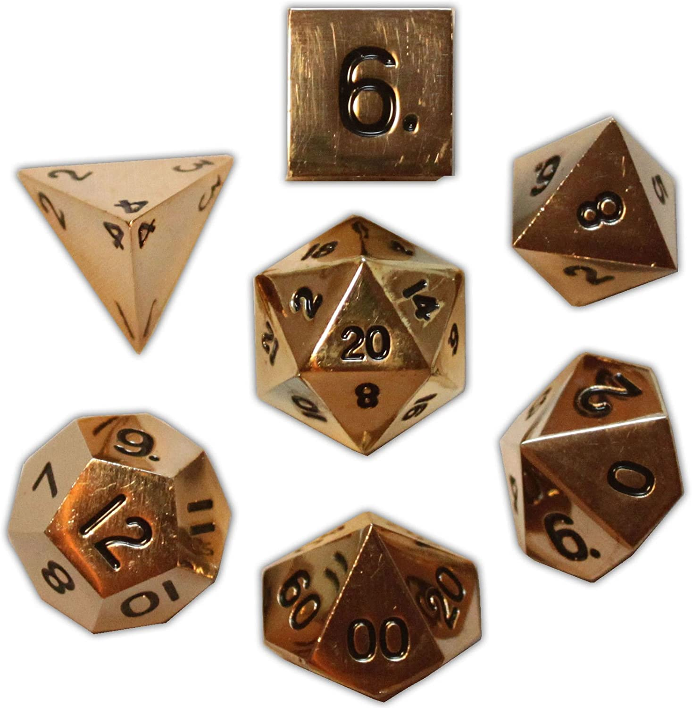Norse Foundry 7PC RPG Metal Dice Dead Set - Man's 大規模セール 品質検査済 Gold