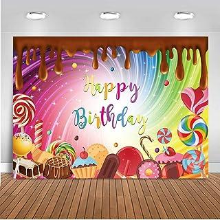 Mocsicka Schokolade Geburtstagshintergrund, 5x3ft