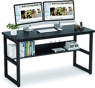 Vordern Computer Desk with Bookshelf Works as Office Desk Study Table Workstation for Home Office (Black, 120 x 60 x 75 cm)